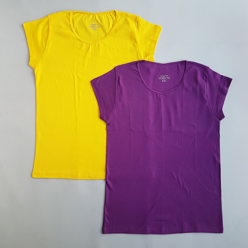 تیشرت ساده بادی سایز زنانه سایز XL و 2XL